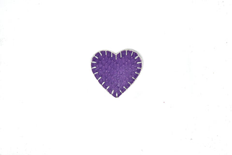 "1.50"" x 1.50"" Purple Heart Snakeskin Iron on Patch Applique"