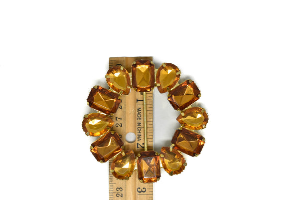 "2 3/4"" Round Gemstone Ribbon Slider"