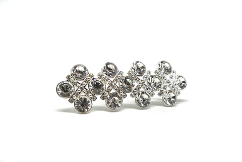 3'' x 1'' Crystal Rhinestone Brooch With Pin - Design 1