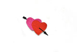 "3"" x 1.5"" Pink and Red Valentines Arrow Heart Patch Applique"