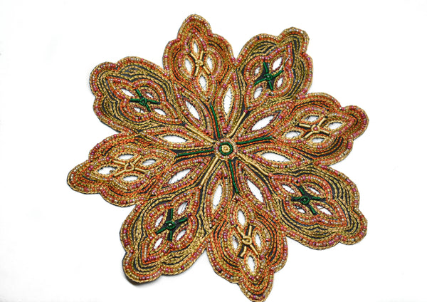 "8"" Bugle Beaded Patch Applique"