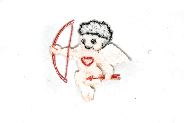 "3.25"" x 3.50"" Cupid with Wing Iron-on Patch Applique"