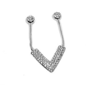 V-Shape Metal Rhinestone Swimwear  Buckle / Connector