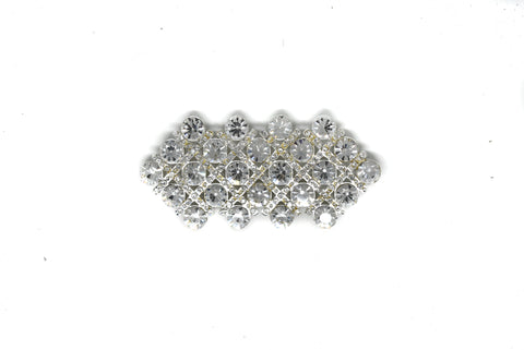 3.5'' x 2'' Crystal Rhinestone Brooch With Pin - Design 2