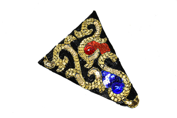 "7.5"" x 5.5"" Triangle shaped sequins and beaded applique"