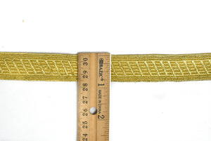 "1/2"" or 1"" Gold Metallic Embroidered Trim"