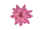 Pink Flower Pin with Beads (2 pieces)