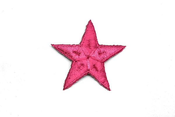 "Embroidered Star Applique- Iron-on Star Patch- Glue on Embroidered Star 2.50""  - 1 Piece"