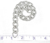 "Double Layer Silver Aluminum Chain 1/2"" (13 mm) - 1 Yard"