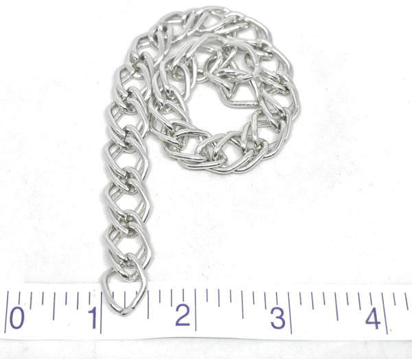 "1/2"" (13 mm) Double Layer Silver Chain (Aluminum)"