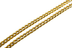 Gold Diamond Cut Aluminum Chain 1/10