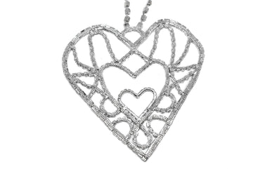 "Rhinestone Heart Applique 5 1/2"" x 5 1/2"" - 1 Piece"
