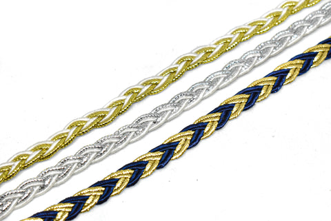 "1/4"" Metallic Non-elastic Braided GIMP"