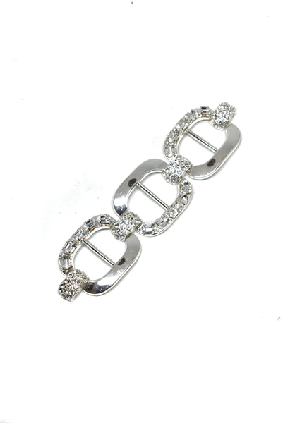"6.25"" x 1.50"" Rhinestone 3-Chain Link Connector for garments"