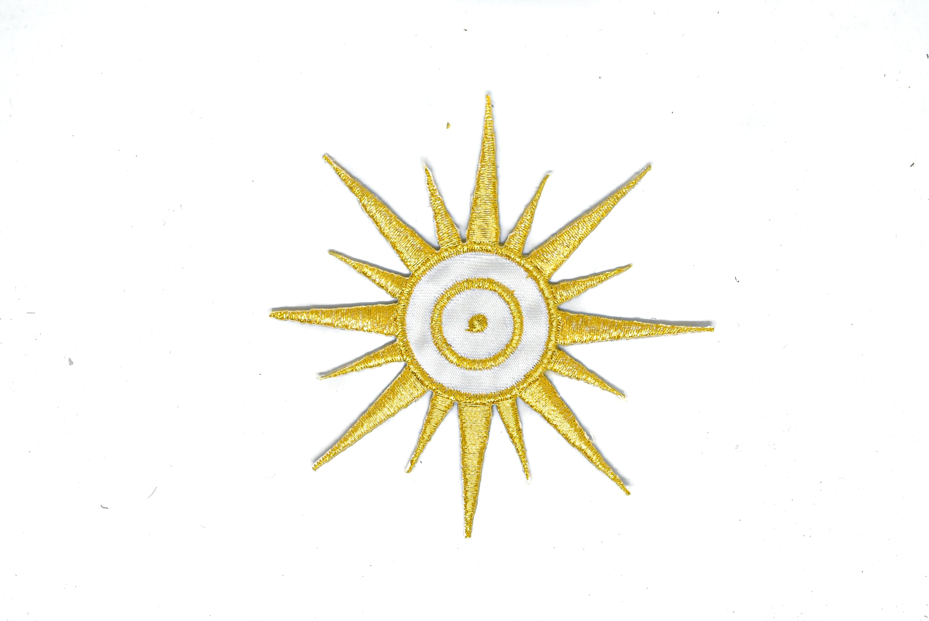 "Embroidered Sun Iron On Patch Applique 3.5"" - 1 Piece"