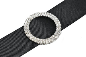 (Medium and Large) Round Rhinestone Ribbon Slider
