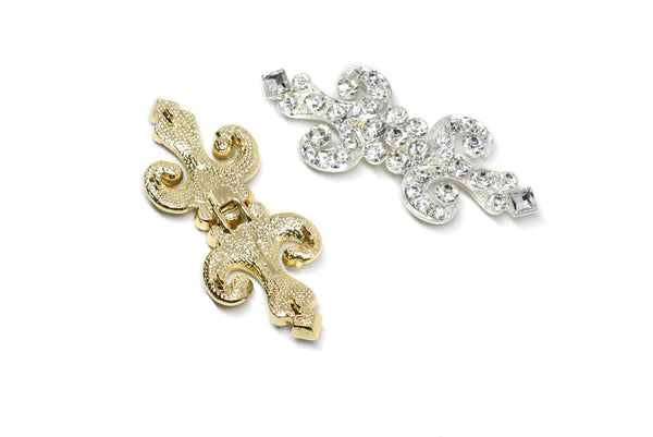"4"" x 1.75"" Stylish Rhinestone Connector/Clasp"
