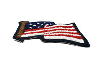 "3 4/5"" x 3 1/2"" American Flag Patch- United States Badge- Sew-on Patch- Glue-on Patch"