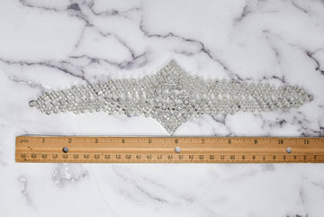 "Rhinestone Filled Connector Applique 11""x 2 7/8"" - 1 Piece"