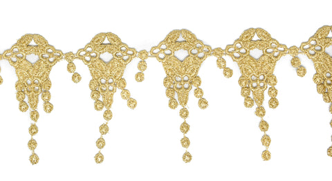 Metallic Gold Embroidered Trim