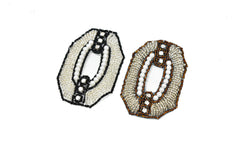 Hexagon Beaded and Rhinestone Applique 3