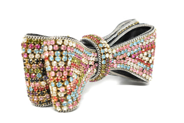 "Multi-Color Rhinestone Bow 4"" 1.75""  - 1 Piece"