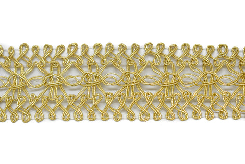 Metallic Gold Crochet Trim