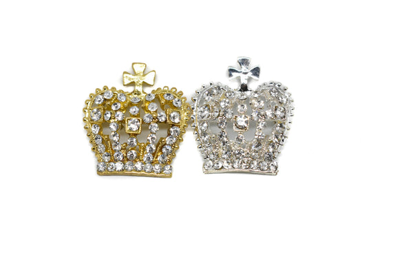 "Crown Rhinestone Brooch 1.50"" x 1.25""- 1 Piece"