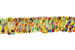 Multi-Color Frayed Fringe Trim