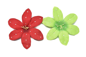 "Flower Rhinestone Pin-on Applique - 5"" - 1 Piece"