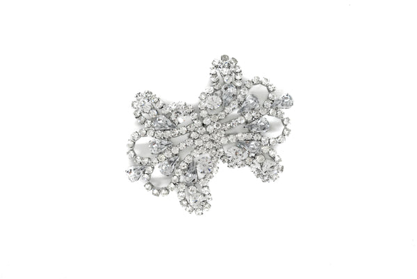 "3"" x 2.5"" Crown Shaped Rhinestone Connector"