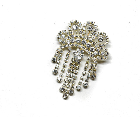 3'' x 2'' Crown Rhinestone Brooch pin