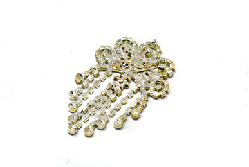 "Dangling Crown Rhinestone Brooch 3"" x 2"" - 1 Piece"