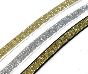 "Metallic Elastic Trim 3/8"" - 1 Yard"