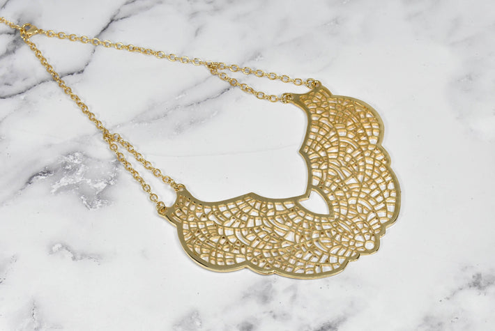 Butterfly Design Gold Necklace