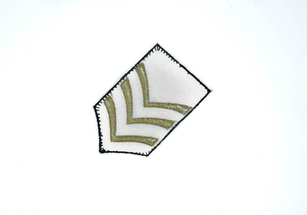 "Iron-on Sergeant Army Embroidery Patch Applique 2"" x 3""  - 1 Piece"