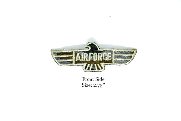 "2.75"" US Air Force Embroidered Iron On Patch- Army Patch or Applique"