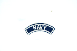 "2 4/5"" x 3/4""Navy Iron-on Patch- Cosplay Iron on Patch- Navy Blue Patch- Embroidered Iron On Patch- Life Preserver Patch"