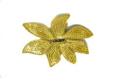 Gold Sequins Flower Applique with Pin 4.50