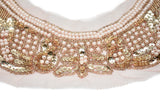 "Elegant Pearl, Sequin Applique 9"" x 7""- 1 Piece"