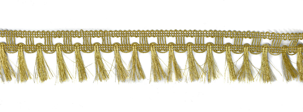 "Metallic Gold Fringe Trim 1.75"" - 1 Yard"