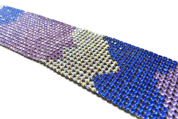 "Tri-Color Rhinestone Applique 16"" x 3 1/8"" - 1 Piece"