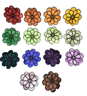 "Flower Sequin Applique 3""- 1 Piece"