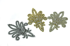 Fleur-de-lis Rhinestone Iron-On Patch/Applique 7