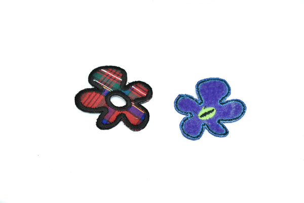 Tiny Iron-On Flower Patches- Different Colors Available