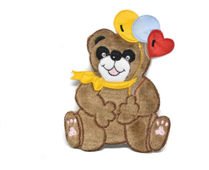 "Smiling Bear Applique Patch 9"" x 7""- 1 Piece"
