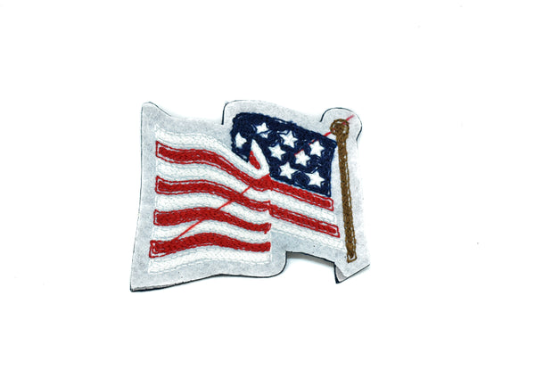 "American Flag Patch 3.80"" x 3.50""- 1 Piece"