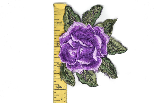 "Rose Embroidered Applique 4"" x 3.50"" - 1 Piece"