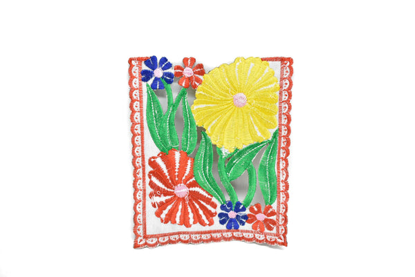 Square Floral Sew-On Applique