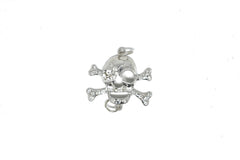 Rhinestone Pirate Skull Connector Charm 2.75